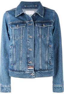 Kenzo Jaqueta Jeans Clássica - Azul