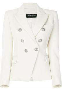 Balmain Blazer Transpassado - Branco