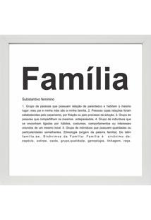 Quadro Familia 27X27-Kapos - Branco