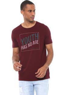 Camiseta Calvin Klein Jeans Youth Vinho