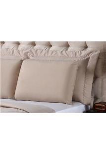 Fronha Para Travesseiro Plumasul Em Percal Com Matelassê E Soft Touch Em Microfibra 50 X 150 Cm - Marrom