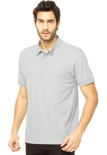 Camisa Polo Timberland Basic Logo Cinza