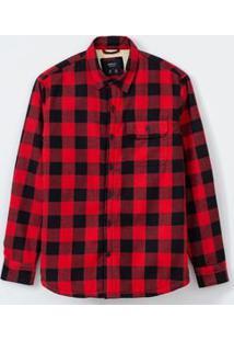 Camisa Manga Longa Em Xadrez