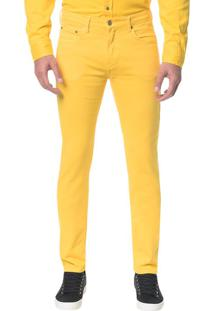 Calça Color Five Pock Slim - Amarelo Ouro - 46