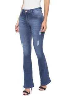 566118a13 ... Calça Jeans Biotipo Bootcut Estonada Azul