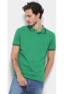 Camisa Polo Acostamento Masculina - Masculino-Verde