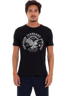 Camiseta Joss Estampada]Superior Standard Vintage Preta