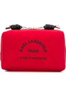 Karl Lagerfeld Necessaire Com Estampa Adress - Vermelho