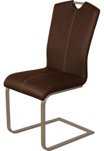 Cadeira Para Sala De Jantar Milano G Acasa Móveis Marrom