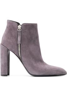 Premiata Ankle Boot 'M5030' De Couro - Cinza
