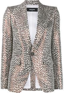 Dsquared2 Tailored Leopard Pattern Blazer - Branco
