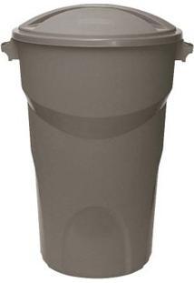Lixeira Redonda 100 Litros Com Tampa Cinza Paramount Plásticos