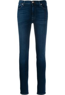 7 For All Mankind Calça Jeans Skinny Desbotada - Azul