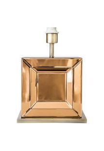 Base Para Abajur Espelho Bronze