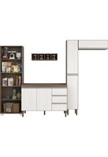 Cozinha Pequena C/ Armário Multiuso, Balcão P/ Pia, Nicho Adega, Paneleiro E Armario Aéreo Peternella