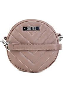 Bolsa Santa Lolla Mini Bag Mestiço Matelassê Feminina - Feminino-Bege