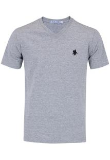 Camiseta Polo Us 706Tsgvb - Masculina - Cinza/Preto