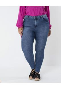 a751df95d962 Lojas Renner. Calça Jeans Skinny Marmorizada Curve & Plus Size