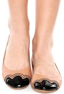 Sapatilha Dafiti Shoes Bordado Textura Bege
