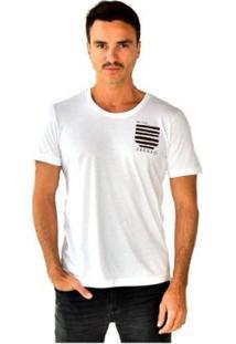 Camiseta Brohood Seeds Bolso Masculina - Masculino-Branco