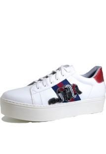 c823e5c864f Dafiti. Tênis Casual Comitiva Boots Strass Branco