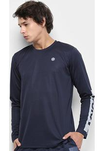 Camiseta Asics Training Workout Ls Tee Manga Longa Masculina - Masculino-Azul