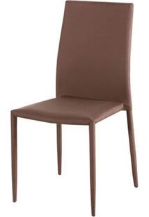 Cadeira Amanda 6606 Estrutura Metal Revestido Em Poliester Cor Cafe - 44944 - Sun House