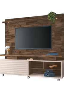 Painel Home Theater Para Tv Até 60 Sala De Estar Cold Deck/Off White - Gran Belo
