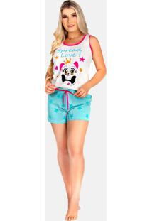 Baby Doll Remaf Pijama Estampado Gatinho