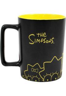 Caneca Com Alça Quadrada Simpsons 500 Ml - Caneca Com Alça Quadrada 500Ml Simpsons