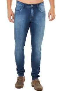 69125490ab ... Calça Jeans Denuncia Skinny Masculina - Masculino-Azul
