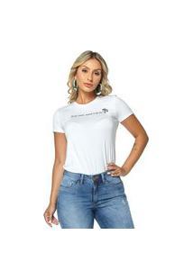 T-Shirt Daniela Cristina Gola U 01 602Dc10276 Branco