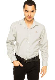Camisa Forum Bordado Cinza