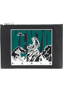 Kenzo Bolsa-Carteira Tiger Mountain - Preto