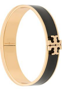 Tory Burch Bracelete Esmaltado Com Logo - Preto