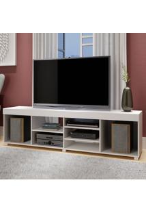 Rack Para Tv Até 55 Polegadas Ibirama Cp 151 Branco - Brv Móveis