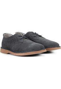 Sapato Casual Couro Kildare Filey Camurça - Masculino-Marinho