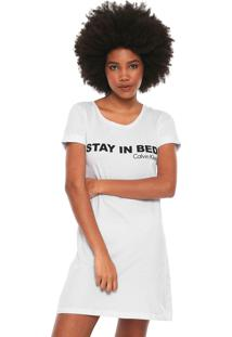 Camisola Calvin Klein Stay In Bed Branca