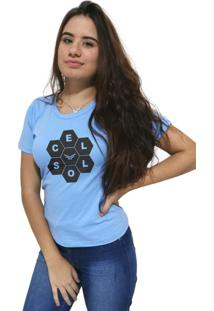 Camiseta Feminina Cellos Honey Premium Azul Claro - Kanui