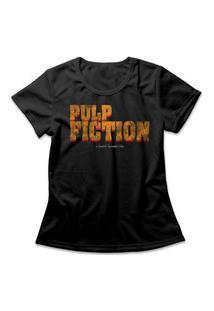 Camiseta Feminina Pulp Fiction Logo Preto