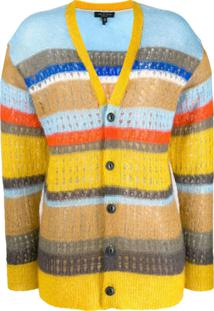 Rag & Bone Striped Colour Block Cardigan - Amarelo