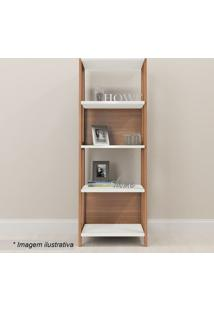 Estante Livreiro Trend- Hanover & Off White- 180X65Xartesano Moveis