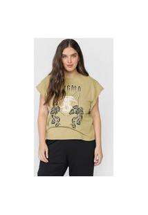 Camiseta Colcci Enigma Verde