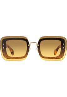 Óculos De Sol Marrom Miu Miu feminino   Gostei e agora  f2796b6f3d