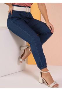 Calça Jeans Clochard Com Barra Ajustada