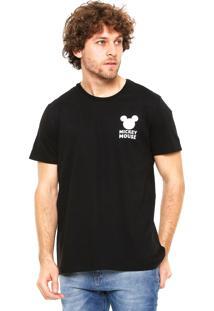 Camiseta Cativa Mickey Mouse Preta