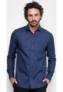 Camisa Victory Eagle Slim Fit Jacquard Masculina - Masculino