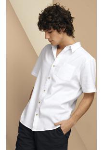 Camisa Básica Masculina Em Tecido De Linho
