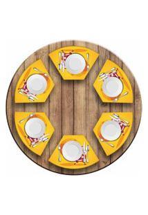 Jogo Americano Love Decor Para Mesa Redonda Wevans Cute Noel Yellow Kit Com 6 Pçs