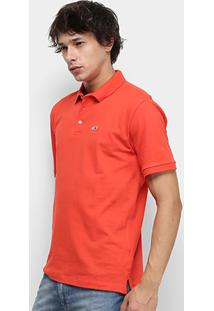 Camisa Polo Tommy Jeans Classic Solid Masculino - Masculino-Vermelho